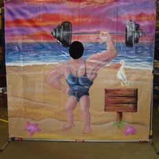 BEACH MUSCLE MAN  CUT OUT
