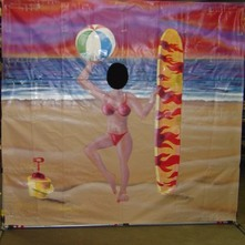 beach women cutout